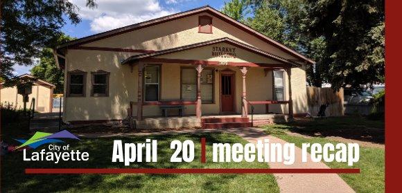 April 20 City Council recap