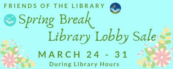 Spring Break Book Sale