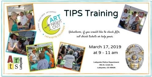 Art Nigh Out Volunteers Training March 17; 9-11 AM