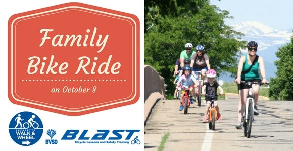 Register by October 7 to participate in a family-friendly bike ride