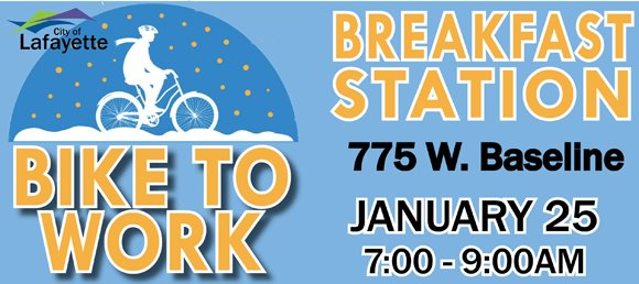 Bike to Work Breakfast Station on January 25