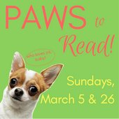 Paws to Read March