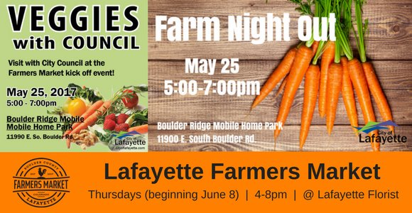 Join us for Farm Night Out and Veggies with Council