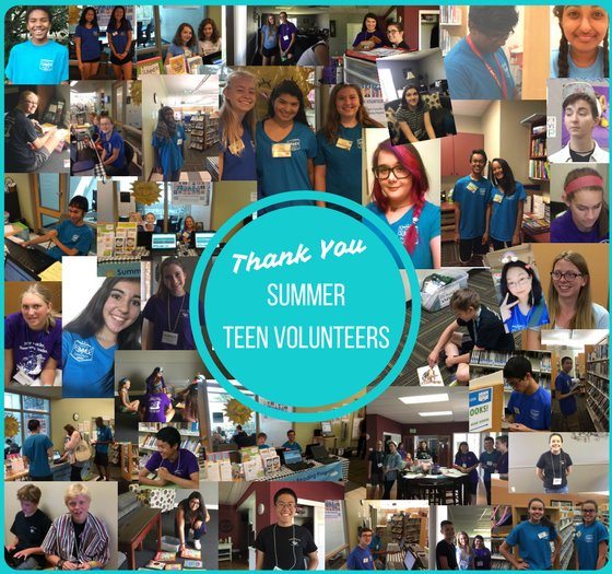 Thank you summer volunteers collage