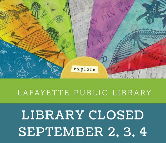 Library Closed September 2, 3, 4