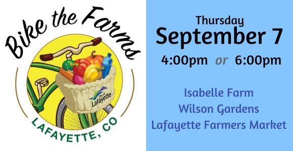 Bike the Farm Event on September 7