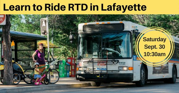 Learn to ride RTD in Lafayette on September 30