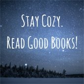 Winter night scene-stay cozy. read good books