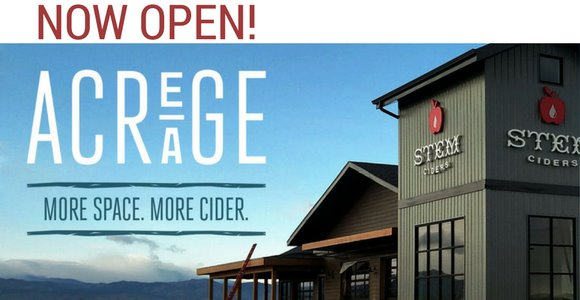 Stem Cider/Acreage now open