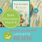 Lafayette Reads Book Club at the Lafayette Public Library book of the month Pachinko