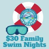 $30 Family Swim Nights