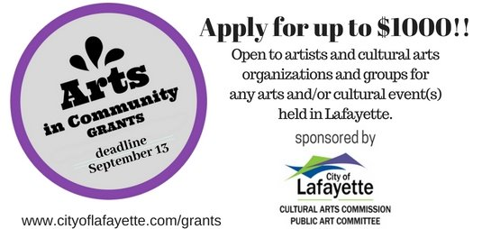 Apply for 2018 Arts in Community Grants