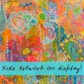 Kids artwork on display