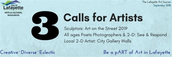 Three calls for artists
