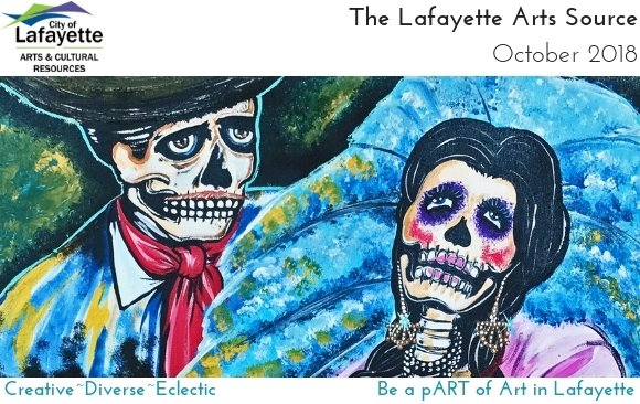 """""""En El Baile"""" Day of the Dead painting by Jose Mares, on exhibit at The Collective"""