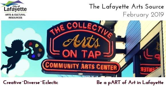 Arts On Tap sign at The Collective
