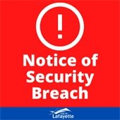 Notice of security breach