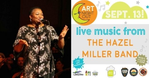 Hazel Miller Band will play on 9/13 at Art Night Out