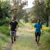 Men Running on Trail