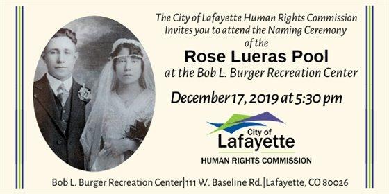 Dec 17, Naming Ceremony for Rose Lueras Pool