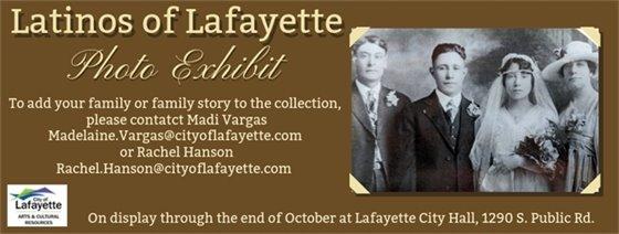 Latinos of Lafayette Photo Exhibit