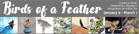 Birds of a Feather Exhibit of 8 local artists in celebration of Lafayette as Colorado's first Bird City