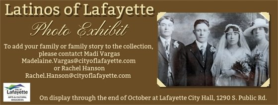 Latinos of Lafayette Photo Exhibit on Display at City Hall through the end of October