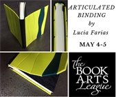 Articulated Book Binding Workshop by the Book Arts League May 5
