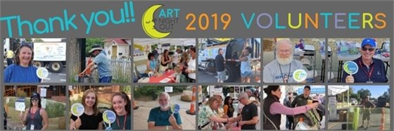 Thank you, volunteers, for an amazing 2019 Art Night Out Season!