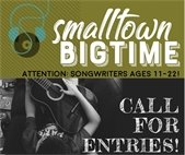 call for musicians ages 11-22 Smalltown Bigtime at East Simpson Coffee