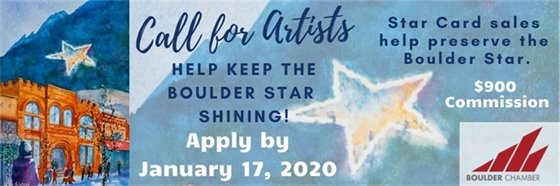Call for Artists! Boulder Chamber greeting card proceeds help maintain the Boulder Star