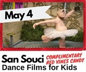 San Souci Dance Films at Lafayette Public Library May 4