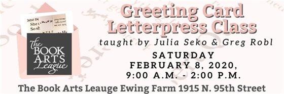 2/8 9-2 Card Letterpress Class