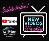 Subscribe to the Arts & Cultural Resources Department YouTube Channel!