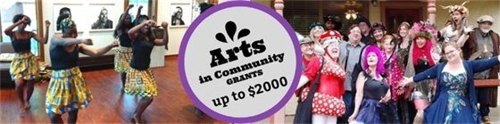 Apply for up to $2000 Arts in Community Grants by September 9