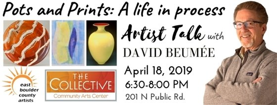 Artist Talk by founding member of EBCA, David Beumée, at The Collective April 18, 6:30-8 PM