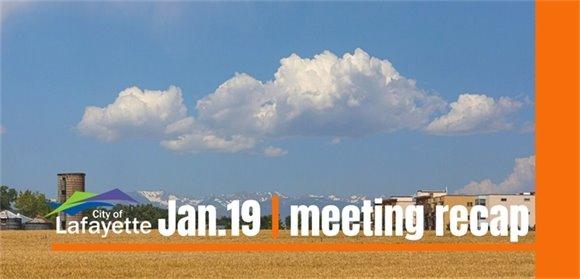 Jan. 19 City Council meeting recap graphic