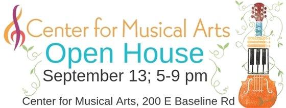Open House for Center of Musical Arts September 13; 5-9 pm