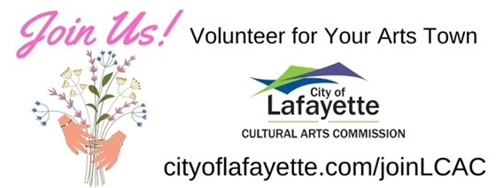 Seeking Commissioners for The City of Lafayette Cultural Arts Commission