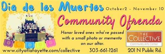 Contribute to the Community Day of the Dead Altar at The Collective 10/2-11/10