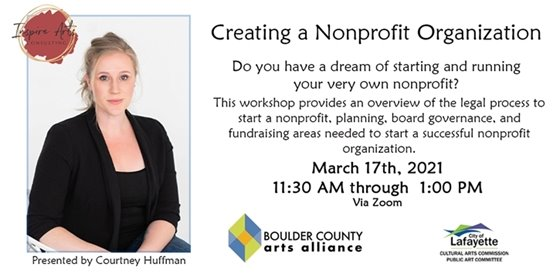 March 17, 11:30 Zoom Workshop BCAA Creating a Nonprofit Organization
