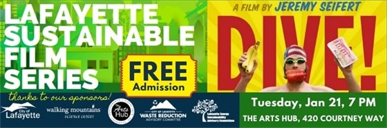 Lafayette Sustainable Film Series 1/21, 2/12, 3/11, 4/8