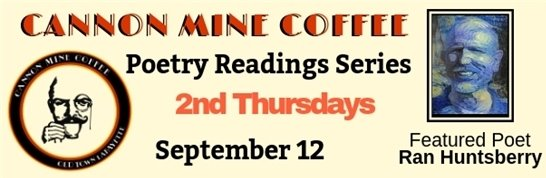 September 12 Poetry at Cannon Coffee featuring Ran Huntsberry