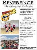 summer dance camps at Reverence