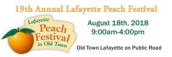 Lafayette Peach Festival August 18, 9AM - 4PM