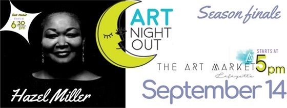 Hazel Miller Band will play on 9/14 at Art Night Out