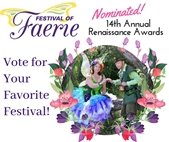 Vote for Lafayette's Festival of Faerie, nominee for the 14th Annual Renaissance Awards