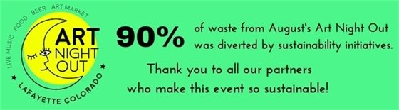 90% of waste from August's Art Night Out was diverted by sustainability initiatives