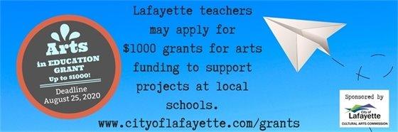August 25 Deadline for Arts in Education Grants