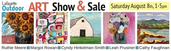 Saturday, August 8, 1-5 pm Outdoor Art Show and Sale